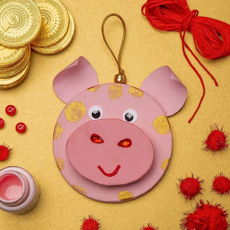 Lucky Pig Decoration Free Craft Ideas Baker Ross
