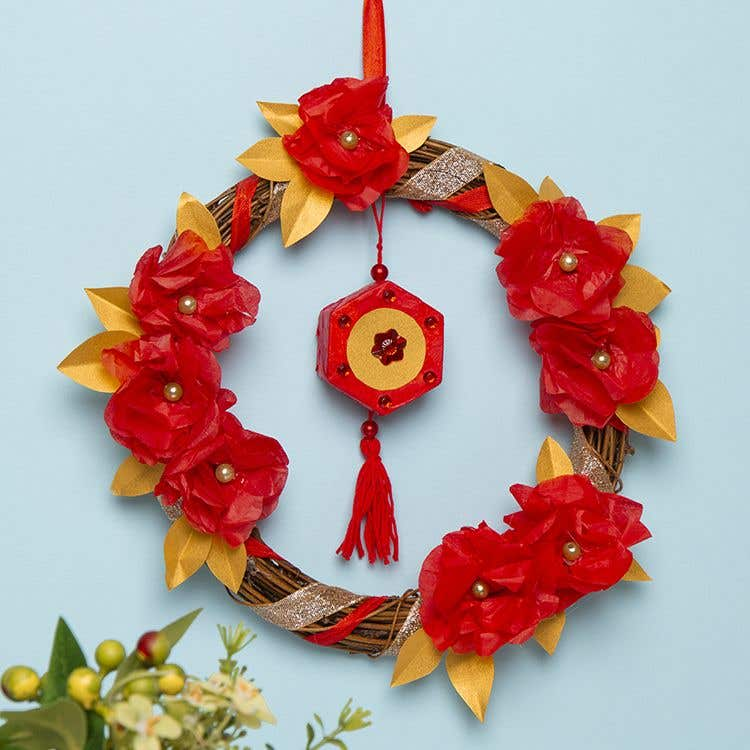 Chinese New Year Wreath | Free Craft Ideas | Baker Ross