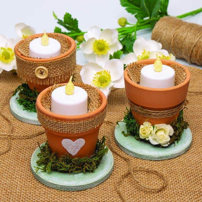 Rustic Wedding Candles Holders Free Craft Ideas Baker Ross