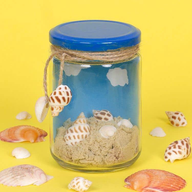 Beach In A Jar Free Craft Ideas Baker Ross
