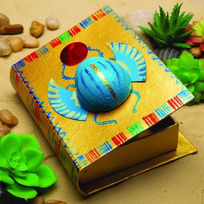 Scarab Beetle Box Free Craft Ideas Baker Ross