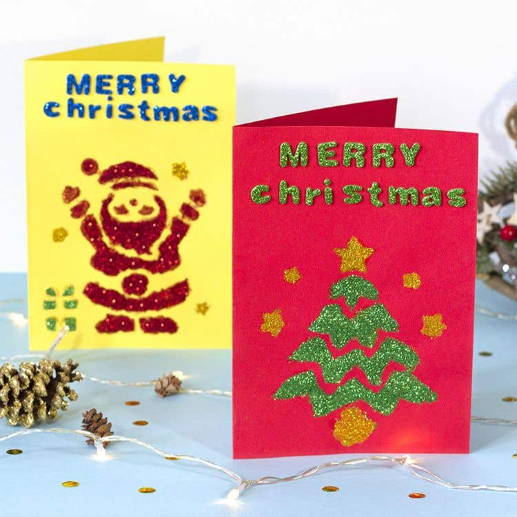 Christmas Ideas For Kids Cards.Free Kids Christmas Craft Ideas Baker Ross Creative Station