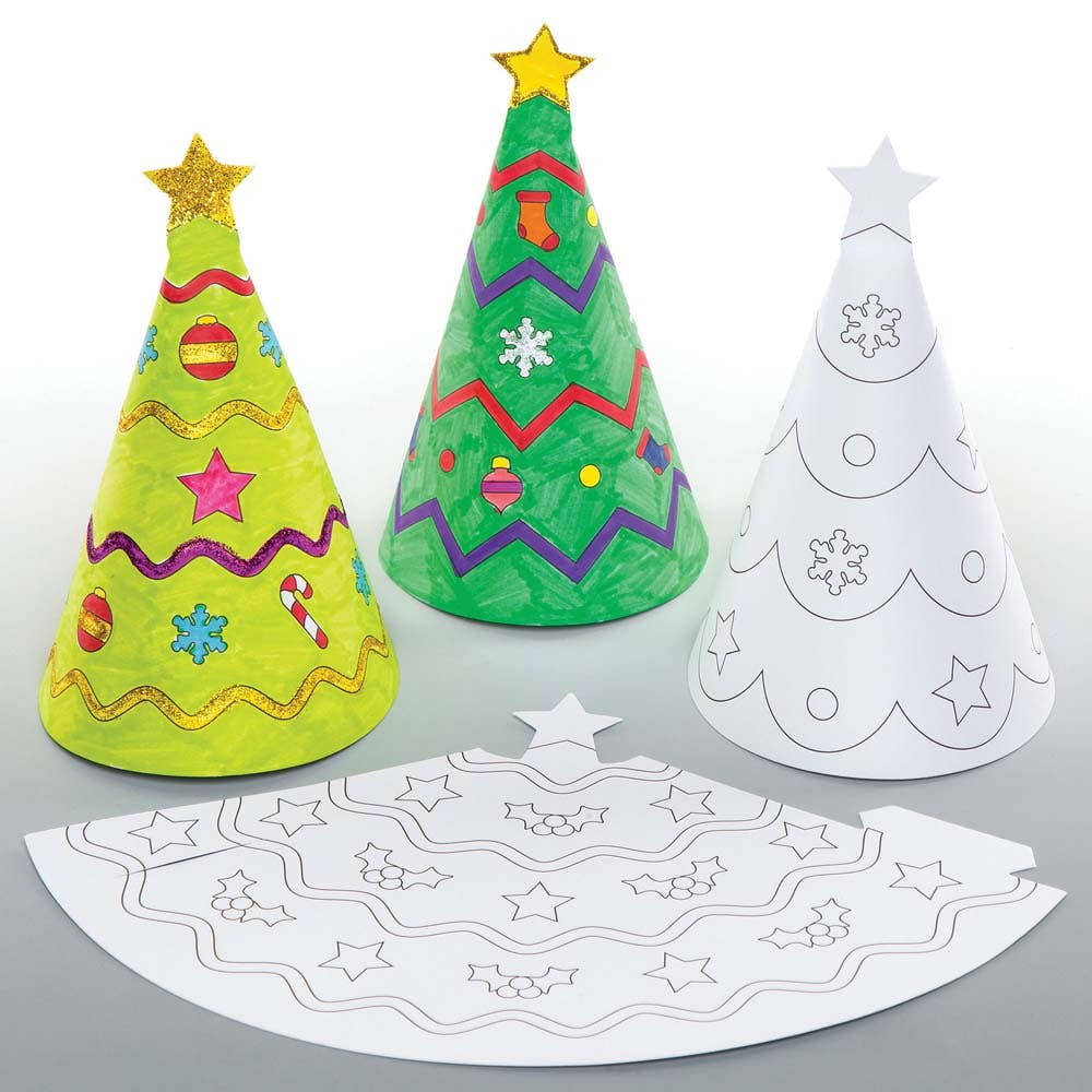 Christmas Colour-in Cone Decorations - Baker Ross