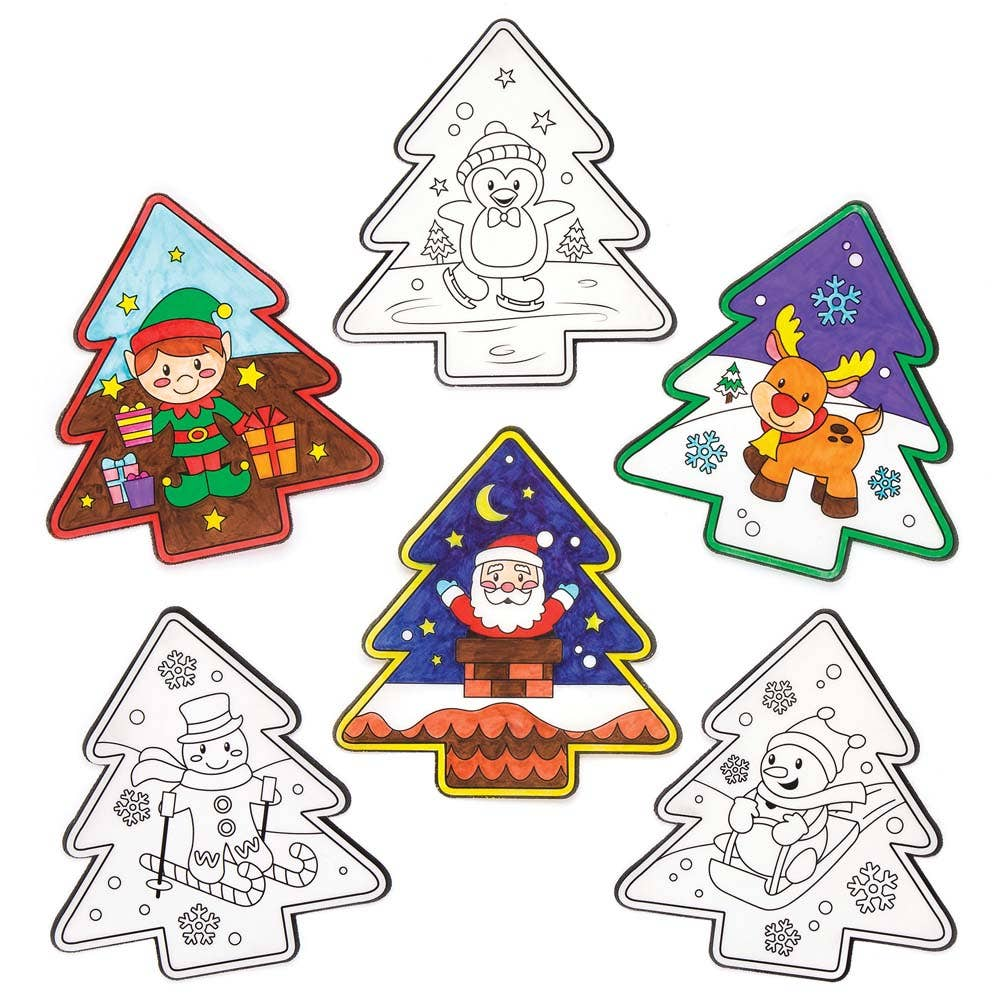 Christmas Colour-in Window Decorations - Baker Ross