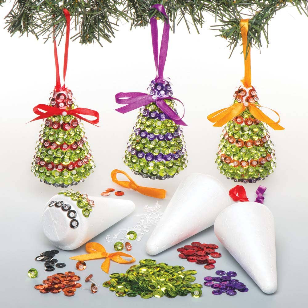 Christmas Tree Sequin Decoration Kits - Baker Ross