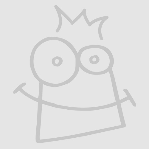 Gold & Silver Glitter Heart Foam Stickers