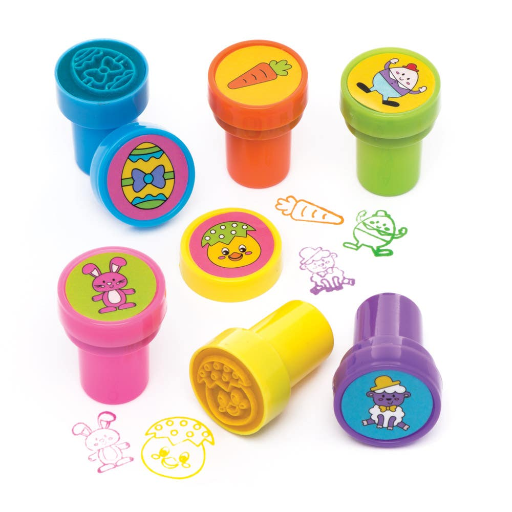 5 x Funny Face Self-Inking Stampers for Kids Perfect Party Bag Stocking Fillers