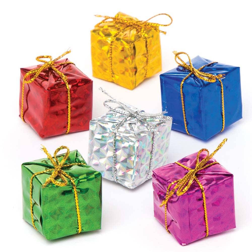 Christmas Present.Mini Christmas Present Decorations Baker Ross