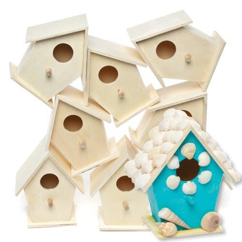 Phenomenal Mini Wooden Birdhouses Bulk Pack Baker Ross Download Free Architecture Designs Scobabritishbridgeorg