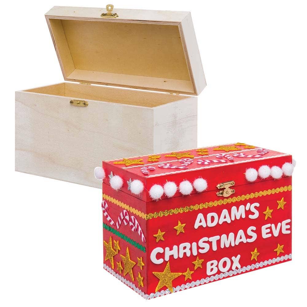 large wooden treasure box - baker ross