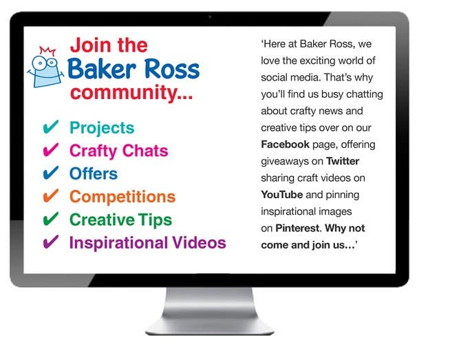 Projects, Crafty Chats, Offers, Competitions, Creative Tips, Inspirational Videos