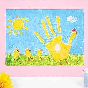 Handprint Chick Canvas