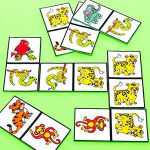 Jungle Animal Dominoes