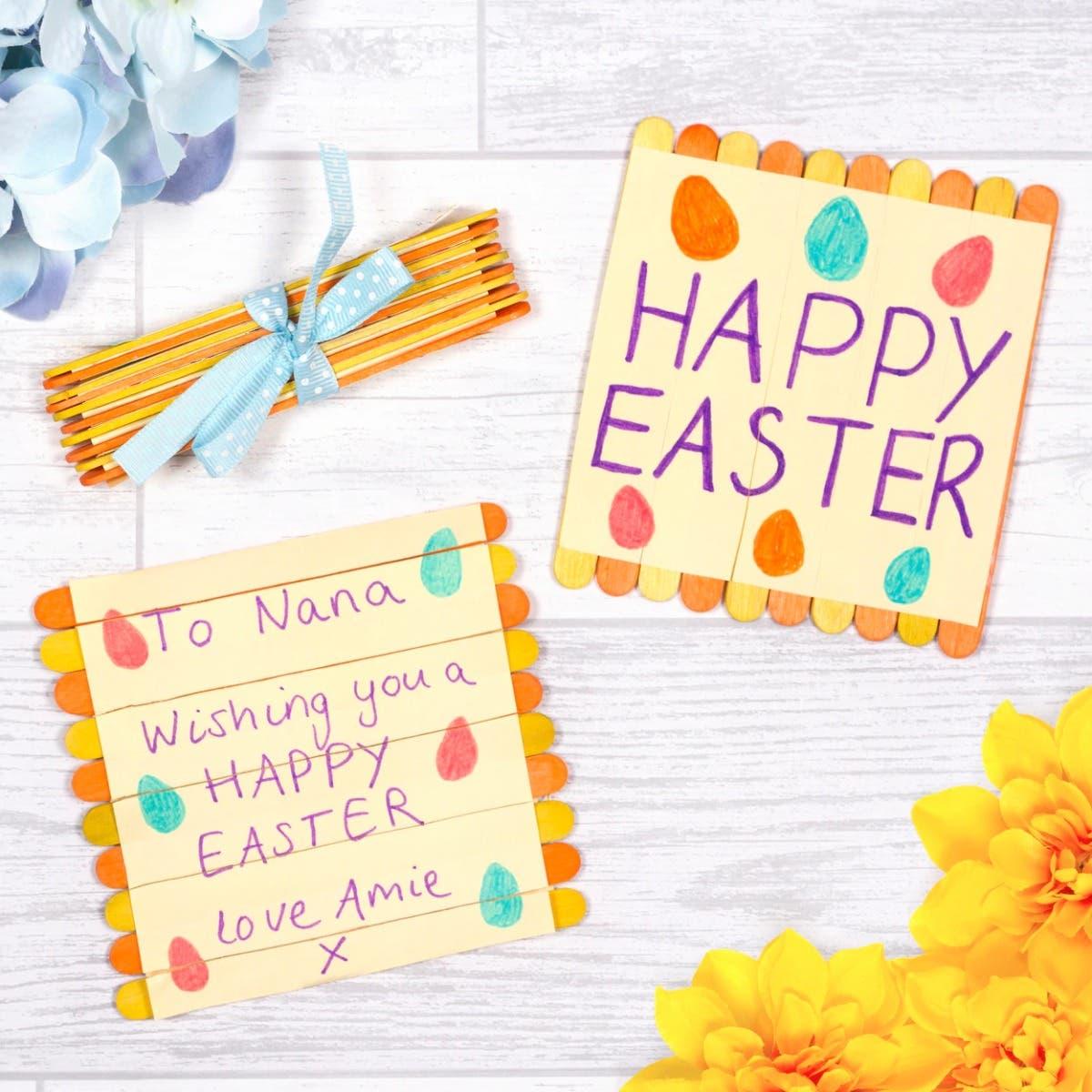 Easter Folding Pop Stick Card