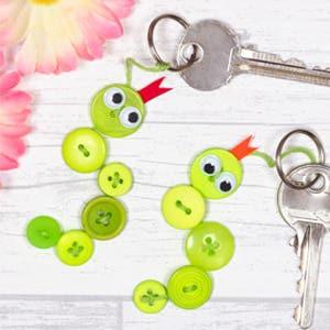 Button Snake Keyrings