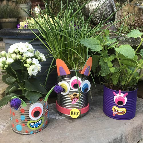 Monster Can Planters