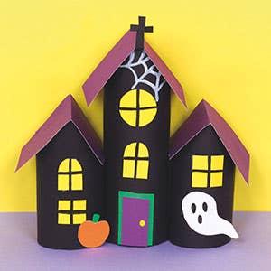 Cardboard-Tube-Haunted-House