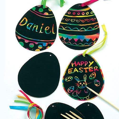 Easter Scratch Art