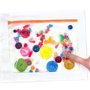 Beads and Buttons Sensory Bag